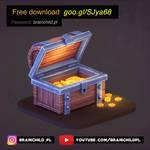 FREE DOWNLOAD - 3d Treasure chest model + texture