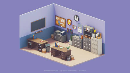 3d Room Assets | Low Poly Diorama | Retro by brainchilds