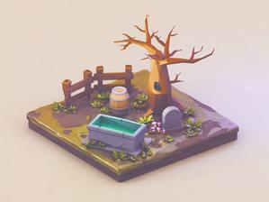 Tiny graveyard | Low Poly