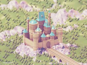3d Castle | Low Poly