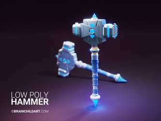 3d Lowpoly Dwarf Hammer - Video Tutorial