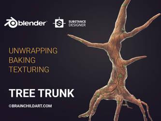 Blender (Tutorial) Tree Trunk Texturing process