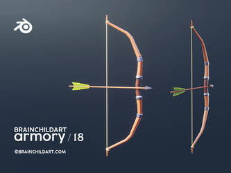 lowpoly bow FULL VIDEO PROCESS