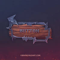 Hand Painted GUI Button Video Process