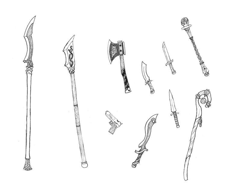 Random Weapons by Bladedog on DeviantArt