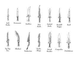 Weapons of FFTA - Knives by Bladedog