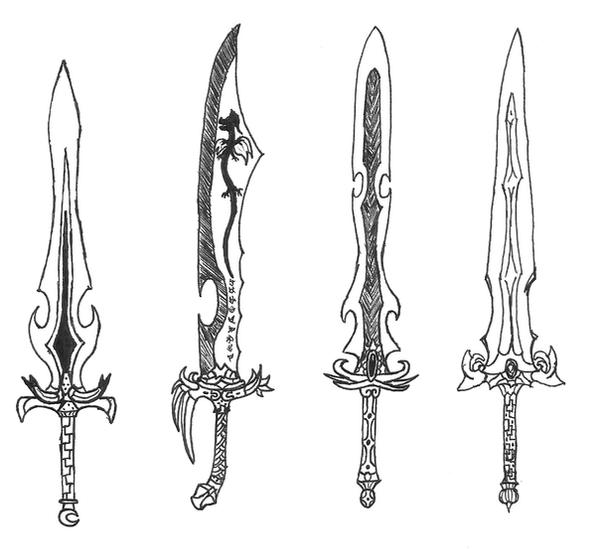 Gallery For gt Easy Drawings Of Swords