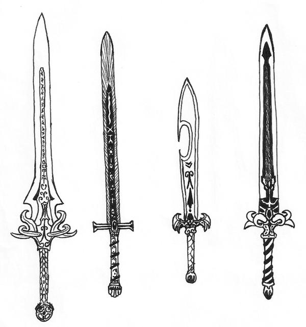 how to draw a realistic sword