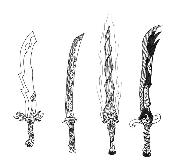 Cool Sword Coloring Pages Sketch