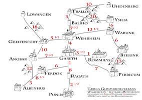 Strassenkarte Zentrales Mittelreich by hobbit-fulger