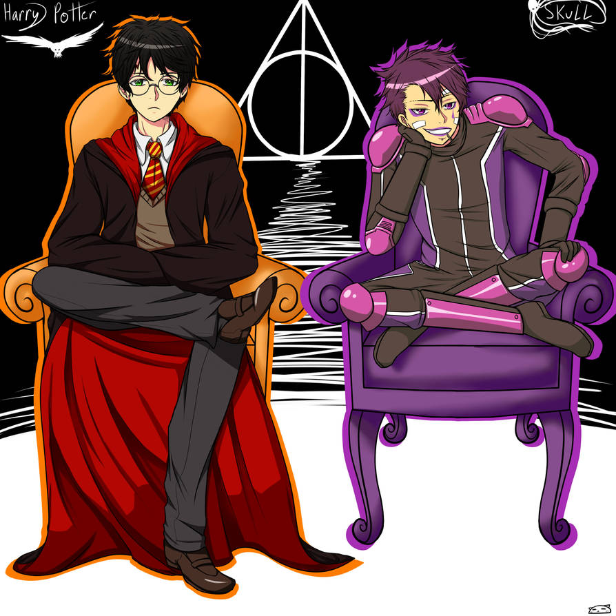 Harry and Skull by phoenixcat2497 on DeviantArt