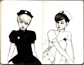 Nurse Twins Sketch by guilloteeeen