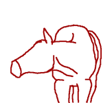Simple Horse basic shape by SassyHonks
