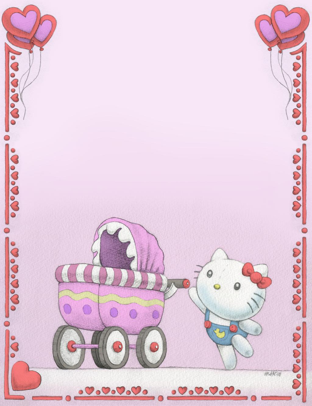 Hello Kitty - Baby Shower Card by CVGZ-Kris on DeviantArt