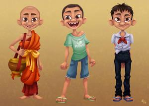 Novice Monk - Visual development