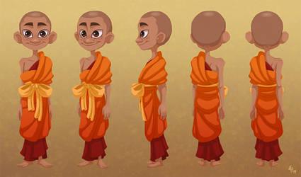 Novice Monk - Character Turn-around