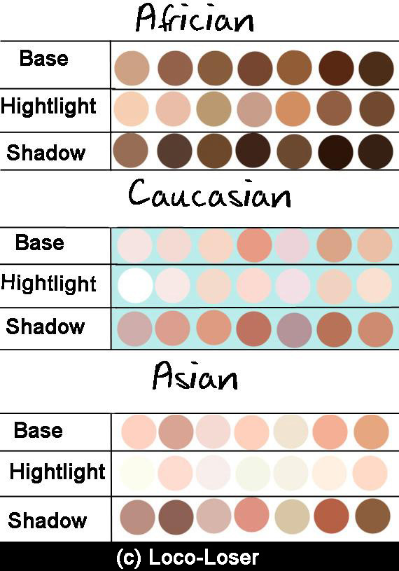 Skin Palette By Loco Loser On Deviantart