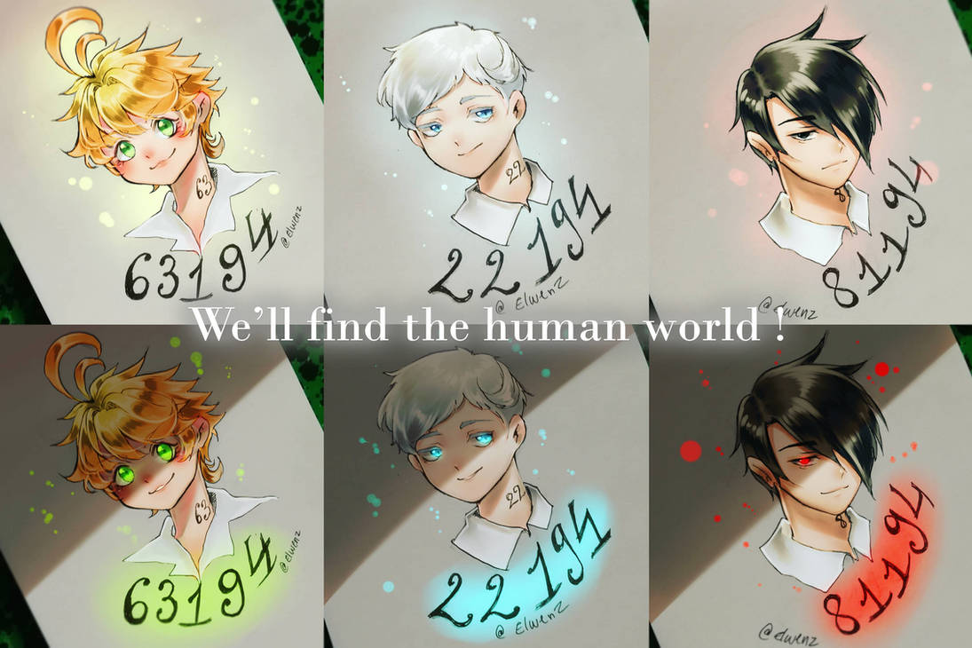 The Promised Neverland Emma Norman Ray By Elwenz On Deviantart