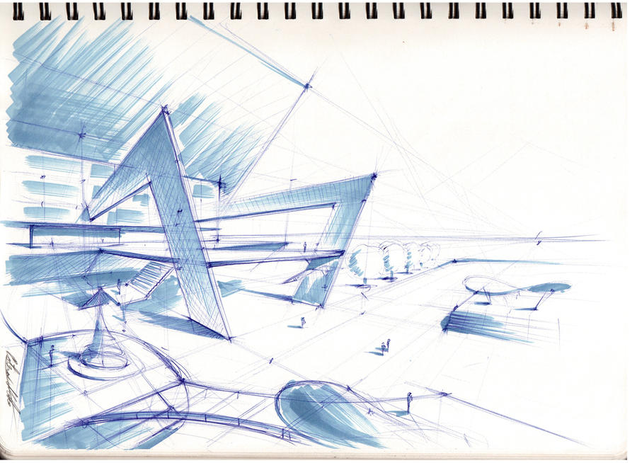 Architectural sketch 2 by mihaio on deviantart for Architecture sketch