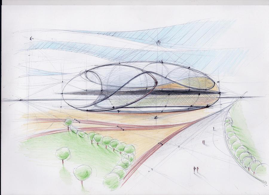 Architectural Sketch 4 By Mihaio On DeviantArt