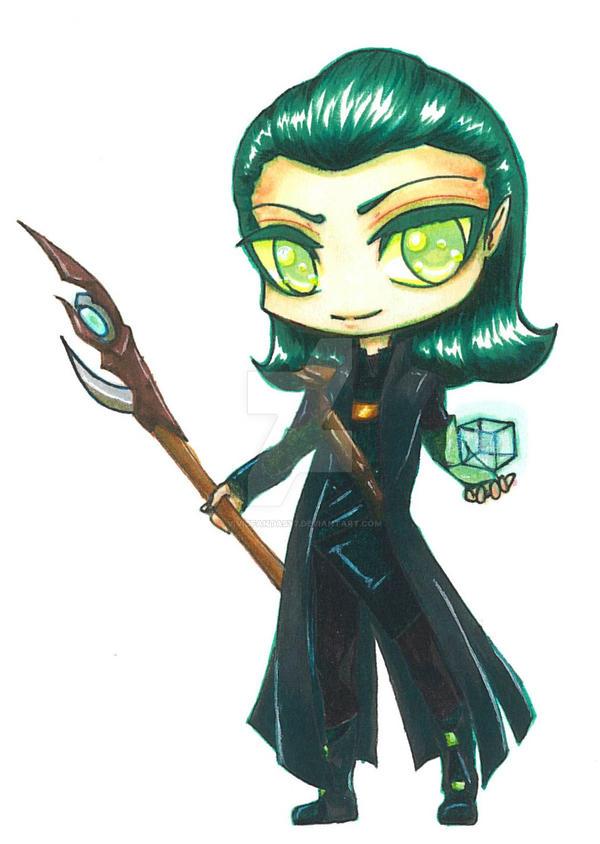 Loki chibi by vividfantasy7