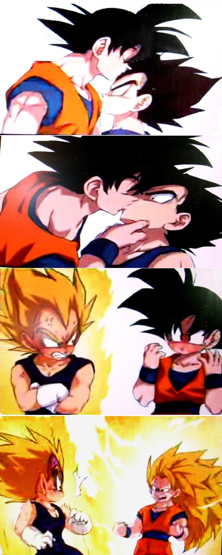 Goku X Vegeta by foxsilong
