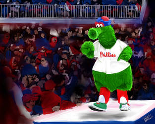 Philly Phanatic - digital oil painting