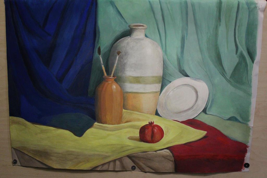 Still Life with drapery by Bastet-mrr