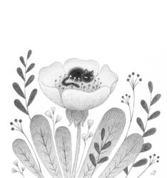 Sleeping in a flower by Bastet-mrr