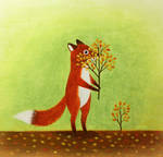 Hiding fox by Bastet-mrr