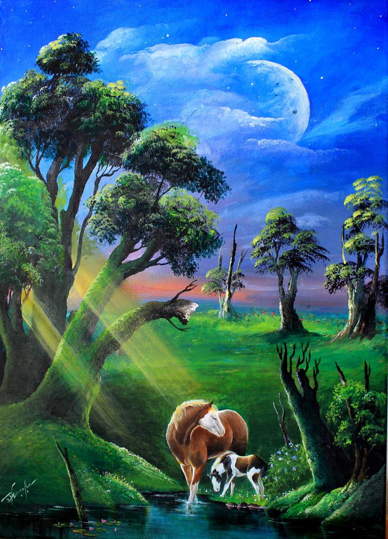 Acrylic painting 3 by blackbird666999