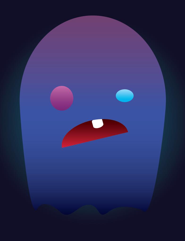 Silly Ghost - 10 min vector. by Salt-Factor