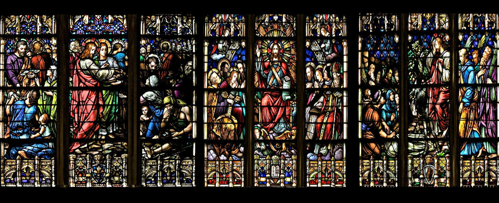 Life of Christ - Wallart Stained glass panelling 2 by jhorsfield30