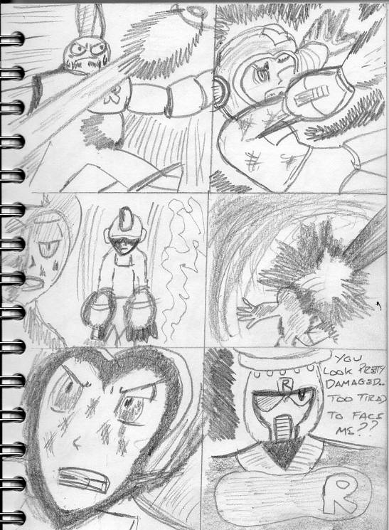 Manga rockman megamix sketch 17 by jhorsfield30