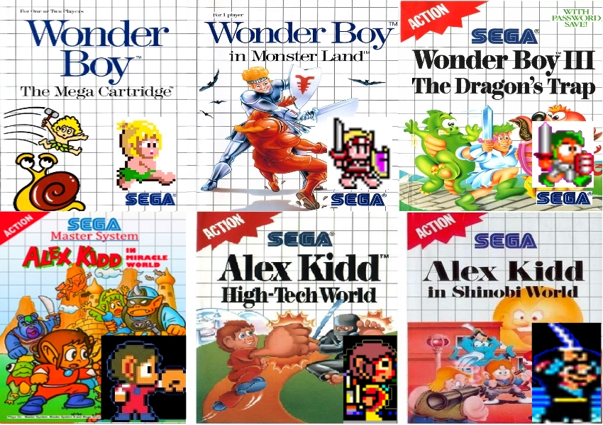 Sms Wonderboy And Alex Kidd by jhorsfield30