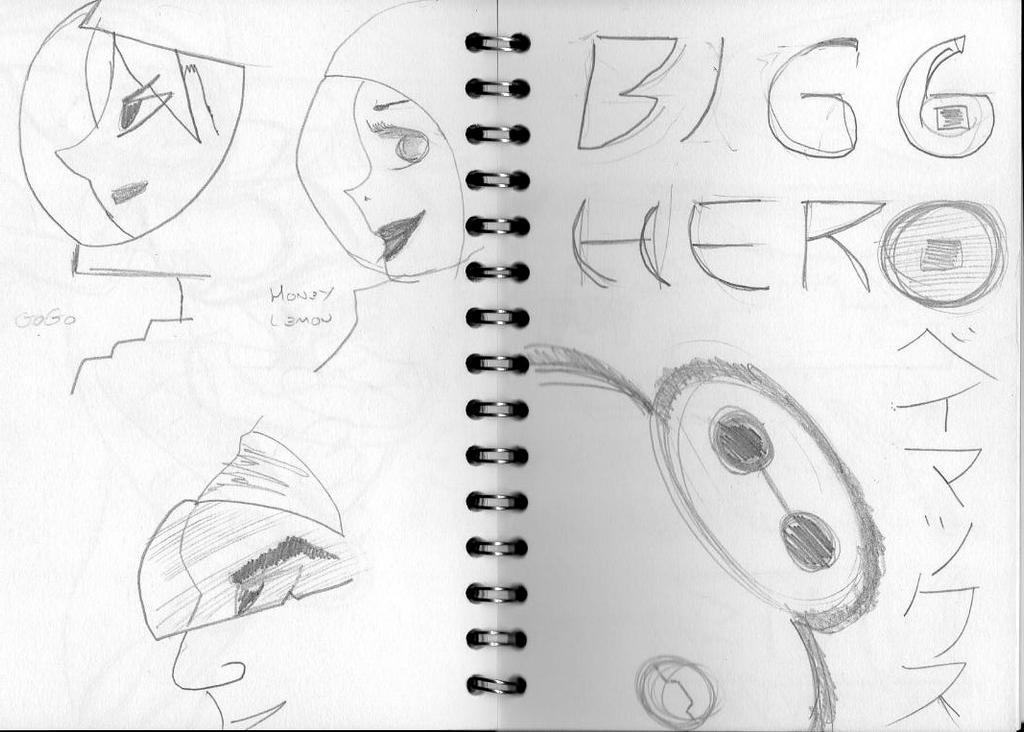 Big Hero 6 Sketch 3 by retroreloads