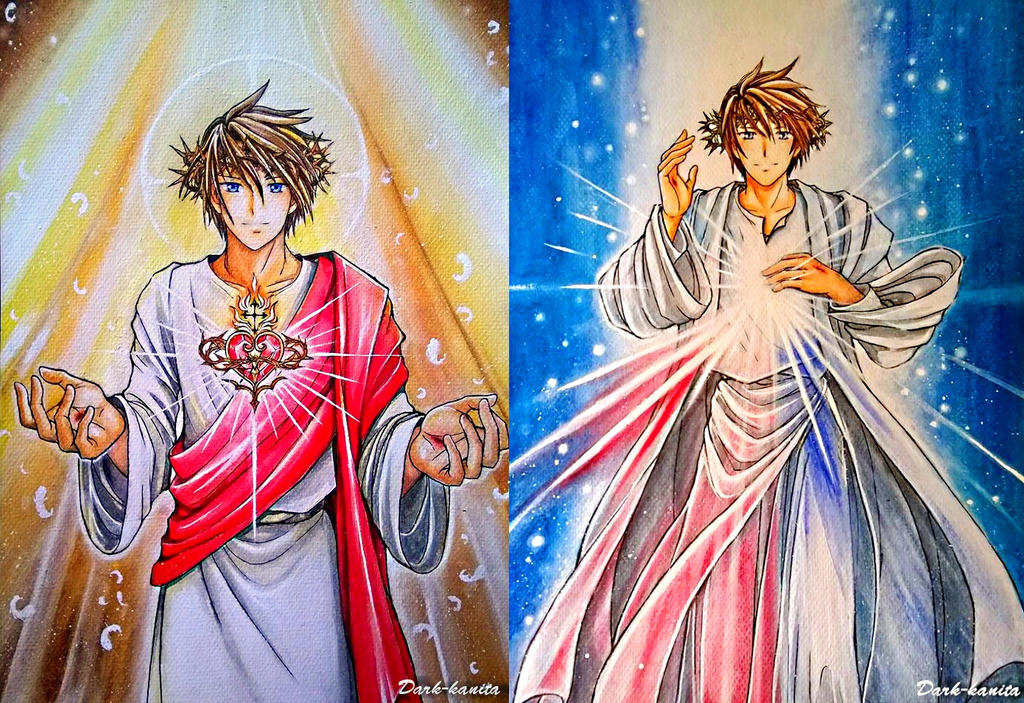 sacred_heart_of_jesus_by_dark_kanita-combo by retroreloads