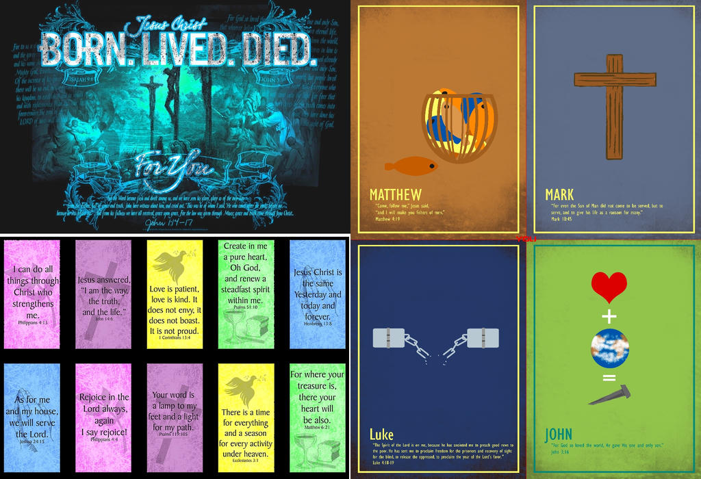 christian-BornLivedDied-Poster-four by retroreloads