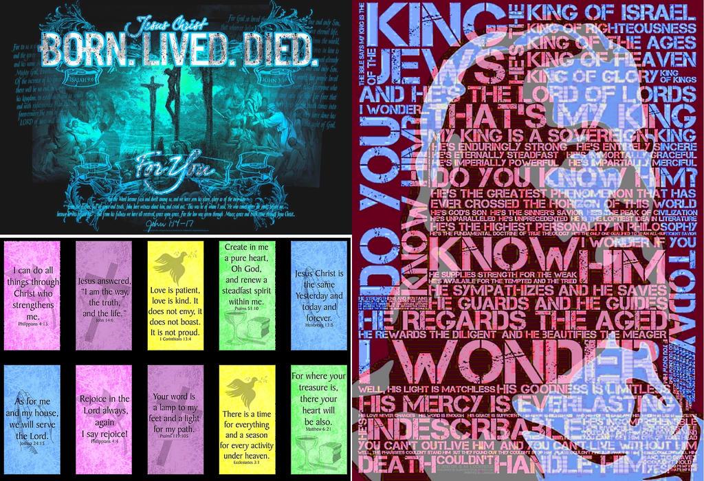 christian-BornLivedDied-Poster-tri by retroreloads