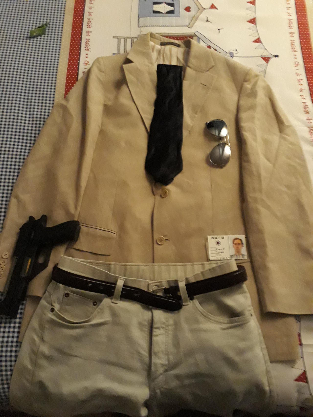 Chase HQ Detective cosplay combo - Tie alt