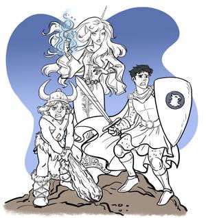 Dungeon Dragons cartoon trio 170621 Sandrak