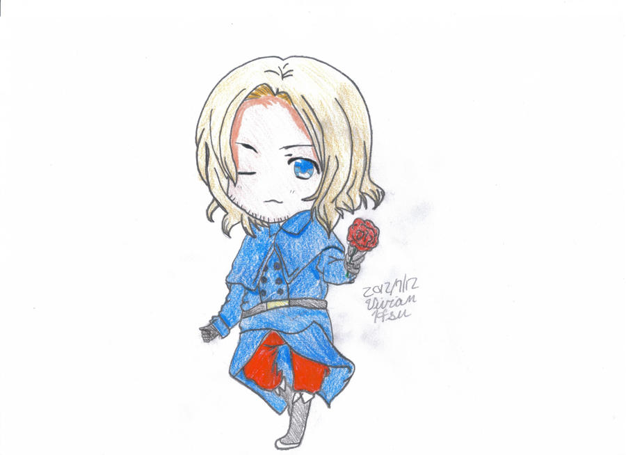 Chibi France (Happy Birthday France) {Color} by ...