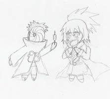 Chibified 1:  Tobi and Anko by theblazinggecko