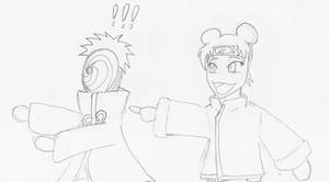 Chibified 4: TenTen and Tobi by theblazinggecko
