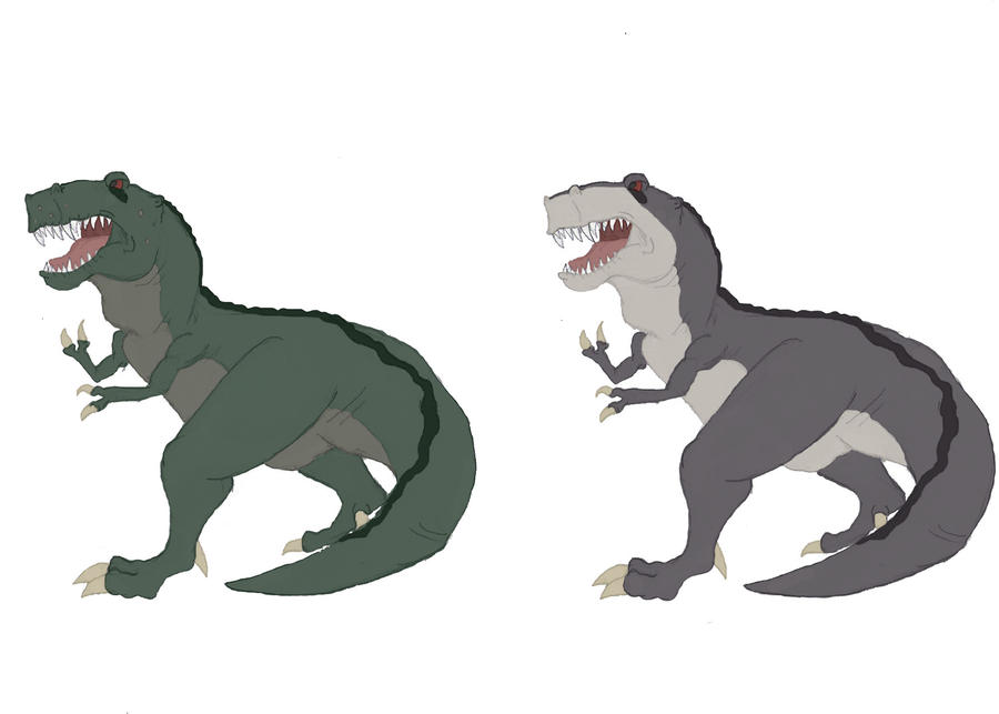 Sharptooth and Chomper by theblazinggecko on DeviantArt