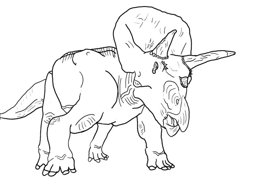 Triceratops Coloring Page 1 by theblazinggecko on DeviantArt