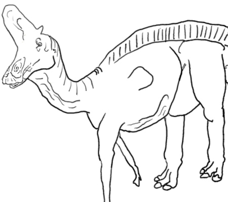 lambeosaurus coloring page by theblazinggecko