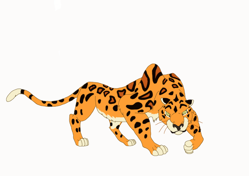 Cheetah Fights Jaguar Coloring Pages