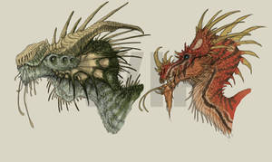 WIP - Dragon Heads Nr. 1 and Nr. 2