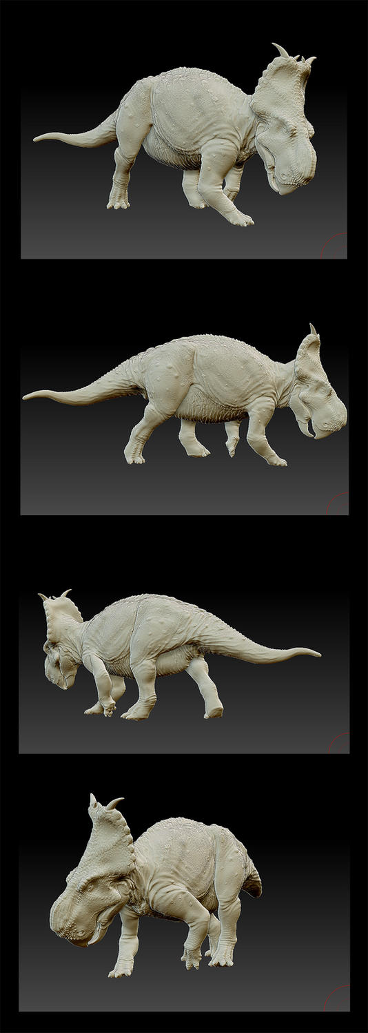 Pachyrhinosaurus canadensis - 3D model by FabrizioDeRossi